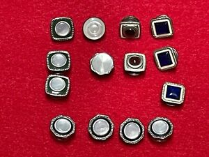 Vintage Snap Link cufflinks, one set and 10 misc pieces, good condition