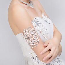 Feminin Armbänder aus Strass groß Armbinde Übertrieben Hochzeit Rock Modeschmuck