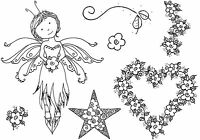 Unmounted rubber stamps Thoughtful Fairy - REDUCED