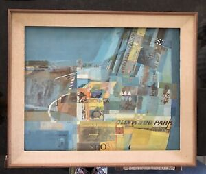 Hollywood Park Race Track Original Abstract painting