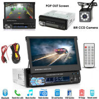 "Kamera + Autoradio 7"" Touchscreen Bildschirm Bluetooth USB SD 1DIN Radio MP3 MP5"
