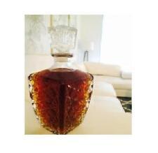 Clear Glass Decanter Vintage Liquor Whiskey Crystal Bottle Jim Italian Made New