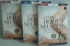 M&S Body Shaping Shine Tights 15 Denier PK 2 Nearly Black Medium