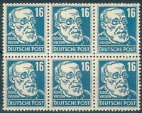 DDR ,6-er Block Nr.330**,332*,10x339**, Michel  164€