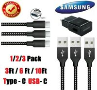3/6/10Ft Type-C USB 3.0 Fast Charger Data Sync Cable Cord Samsung LG HTC Android