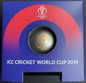 2019 Barbados $5 ICC Cricket World Cup Ball Shaped 1oz Silver Coin Proof like