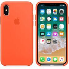 Spicy Orange GENUINE ORIGINAL Apple Silicone Case NEW iPhone X RRP $39