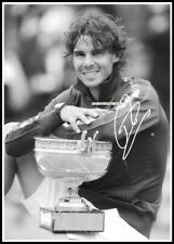 Rafael Nadal, Autographed, Cotton Canvas Image. Limited Edition (RN-407)x