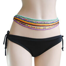 Multicolor Beaded Elastic Belly Waist Chain Be_ Hb- 10Pcs/Set Women Single Layer