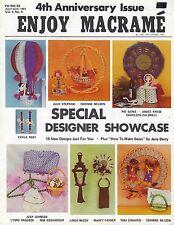 Enjoy Macrame July/Aug 1981 Vol. 5 No. 4 Newsletter Tabletop Planter Swing