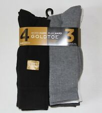 New Gold Toe Gray Black White Assorted Men's 3 Pair Casual 4 Pair Dress Socks