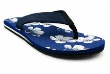 *Goodfellow & Co Men's ALOHA BEACH Floral Footbed RYAN FLIP FLOPS Sandals, Navy