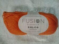 Fusion Sulco #TVF008 Orange 50g Baby Llama & Wood Pulp Fingering Weight 175m