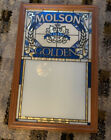 Vintage Molson Golden Beer Menu Board Sign Canada Stain Glass Window Panel