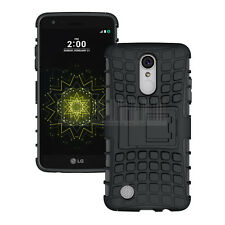 Heavy Duty Hybrid Hard Armor Case Stand Cover For LG Aristo MS210/LV3/Fortune