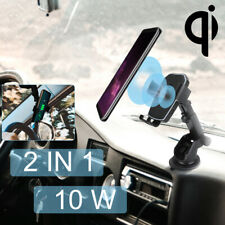 360° Mount Holder Car Windshield 10W Fast Charging Stand For Smart Mobile Phone