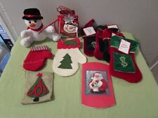Lot Of 10 Christmas Gift Card Money Gift Bags Stockings Mittens Snowman