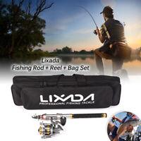 1.5M-2.7M Telescopic Fishing Rod Reel Combo Full Kits Spinning Reel Pole Set USA