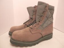 Brown/Green Leather Military Army Boots-NWT-Men's Size 11.5-Vibram Soles-Made In