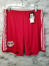Adidas MLS New York Red Bulls Mens Soccer Shorts Sz XL Red NEW WITH TAGS