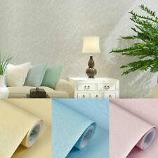 5M Self Adhesive Wallpaper Embossed Flocked Textured Wall Sticker PVC Waterproof