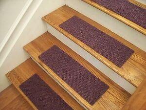 Premium Carpet Stair Tread and Landing Mat Set - Berber Lavender
