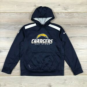 San Diego Chargers NFL Football Therma-Fit Fleece Nike Hoodie Jacket size M