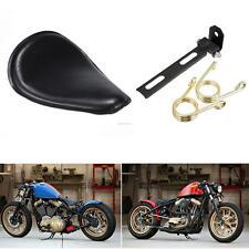 Solo Sitz Seat + Gold Spring + Halter für Honda Yamaha Kawasaki Suzuki Chopper