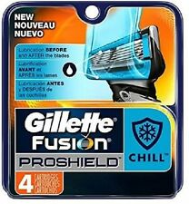 Gillette Fusion ProShield Chill Men Razor Blade Refills 4 Count Factory Sealed