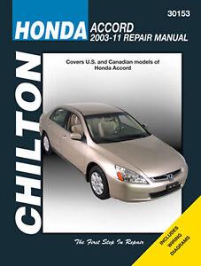 Chilton Manual: Honda 2003-11 Accord