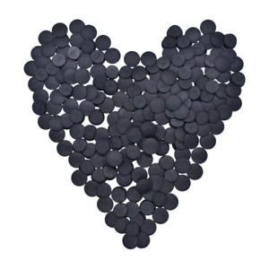 100pc Wholeslae Plastic Buttons Black Ornaments For DIY Shoes Charms Accessories