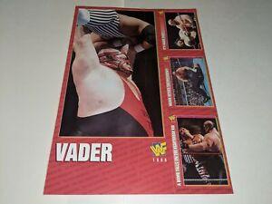 1996 WWF MAGAZINE TRADING CARDS UNCUT 4-Card Sheet Set VADER Jumbo Card