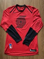 Nik Stauskas Blazers 2018 size L Game Worn Used Issued Warmup Shirt Nike Red