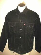 Levis Mens Button Up Denim Trucker Jean jacket Black Gold Stitch Size 4XL NR NWT