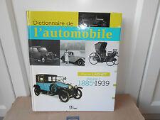 Livre dictionnaire de l'automobile volume 1 1885 1939 Pierre LACHET Hermé 271p