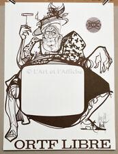 ORTF LIBRE Affiche originale Mai 68 MORETTI signée Vintage Political Poster