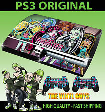 Playstation ps3 original autocollant monster high vampire loup peau & 2 pad skins