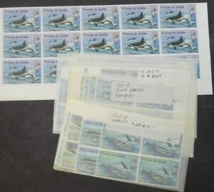 EDW1949SELL : TRISTAN 1975 Scott #202-205 Whales. 41 Cplt sets. VF, MNH Cat $287