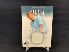 2001 UPPER DECK SP AUTHENTIC ANDY BEAN TOUR SWATCH SHIRT RELIC