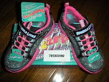 Girls' SKECHERS Sparkle Lite Kick II Light-up Sneakers/Shoes size 12M (NIB)