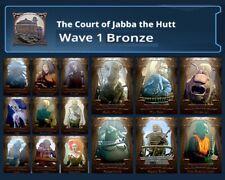 COURT OF JABBA THE HUTT-BRONZE WAVE 1 SET-TOPPS STAR WARS CARD TRADER