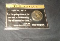 The Anzacs coin daily telegraph comparative still sealed Anzac day