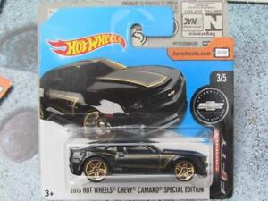 Hot Wheels 2017 #180/365 2013 CHEVY CAMARO SPECIAL EDITION black Camaro 50yrs