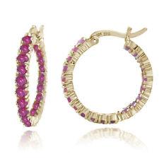 Heat & Pressure Ruby Sterling Silver Fine Earrings