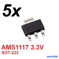 5x Regulador Tension Baja Perdida AMS1117 1117 3V3 1A - VOLTAGE REGULATOR SOT223