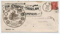 1903 Brandt PA ad cover Chapot-Shirlaw Company chamois logo [y4032]