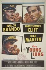 THE YOUNG LIONS Movie POSTER 27x40 E Marlon Brando Montgomery Clift Dean Martin