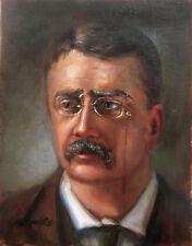 "President Theodore Roosevelt, ""Teddy"" USA 14x11in.Original Oil  HALL GROAT II"