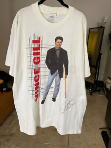 """Vince Gill  T Shirt Autographed 1995  """"When Love Finds You"""" XL Xlarge Vintage"""