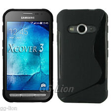 S-line Gel TPU Black Skin Case Cover for Samsung Galaxy Xcover 3 G388F